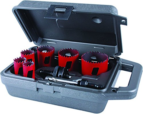 8 Piece Plumbers Hole Saw - MK Morse MHS04P Bi-Metal Hole Saw Plumber Kit, 8-Piece