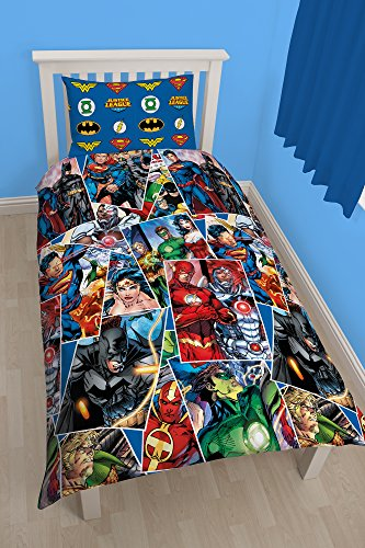 justice+league Products : Character World Justice League Invincible Single Rotary Duvet Set