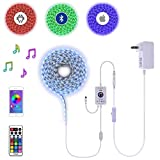 16Ft 5M 300LEDs DC 12V Waterproof RGB LED Strip Tape Light Plug-N-Play Kit incl Bluetooth App Controller and Power Supply