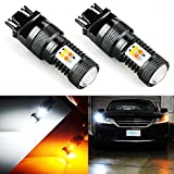 led 3157 bulb - JDM ASTAR Extremely Bright 3030 Chipsets White/Yellow 3157 3155 3457 4157 Switchback LED Bulbs with Projector For Turn Signal Lights(Brightest Switchback bulb on the market)