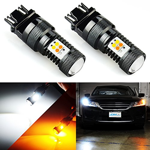 JDM ASTAR Extremely Bright 3030 Chipsets White/Yellow 3157 3155 3457 4157 Switchback LED Bulbs with Projector For Turn Signal Lights(Brightest Switchback bulb on the (Honda Accord Turn Signal Light)