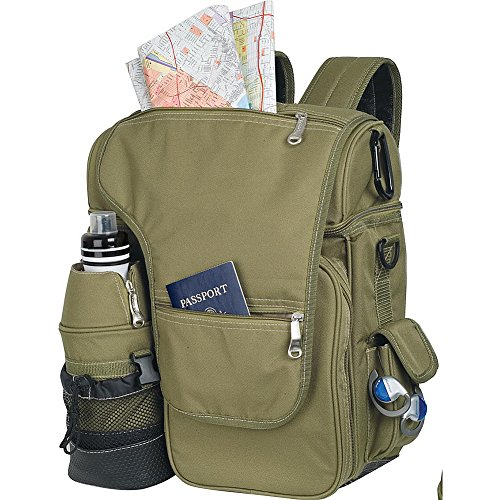 Picnic Time Turismo Insulated Backpack Cooler, Olive