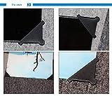 ToToT 16pcs Black 6mm Glass Corner Triple-cornered