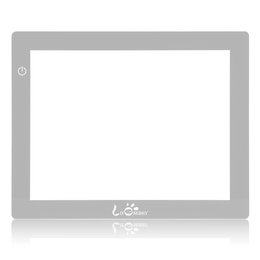 LitEnergy 18.75 Inch Diagonal A4 LED Artcraft Tracing Lit Pad Light Box with Paper (Pack of 2)