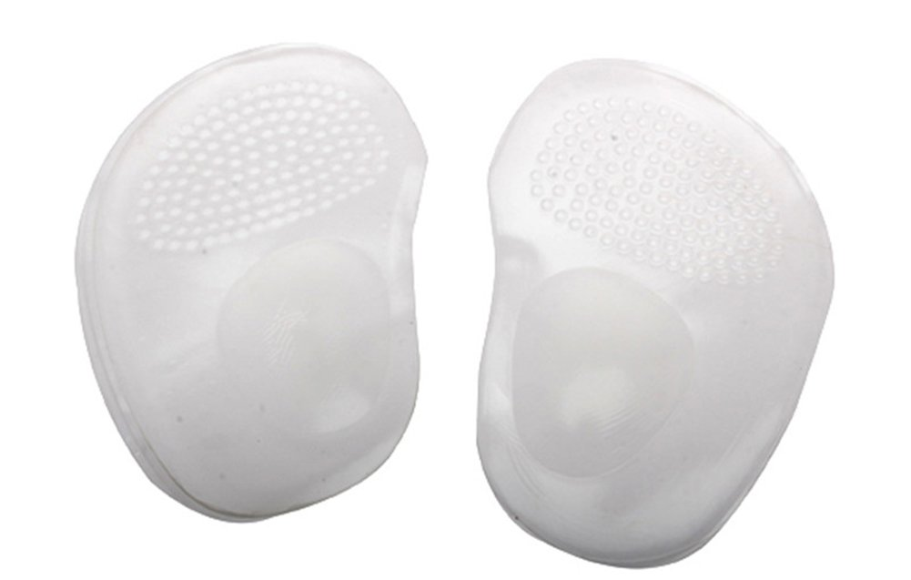 Gracefulvara 1Pair Arch Support Cushion Half Insole Silicone Gel Front Feet Pads