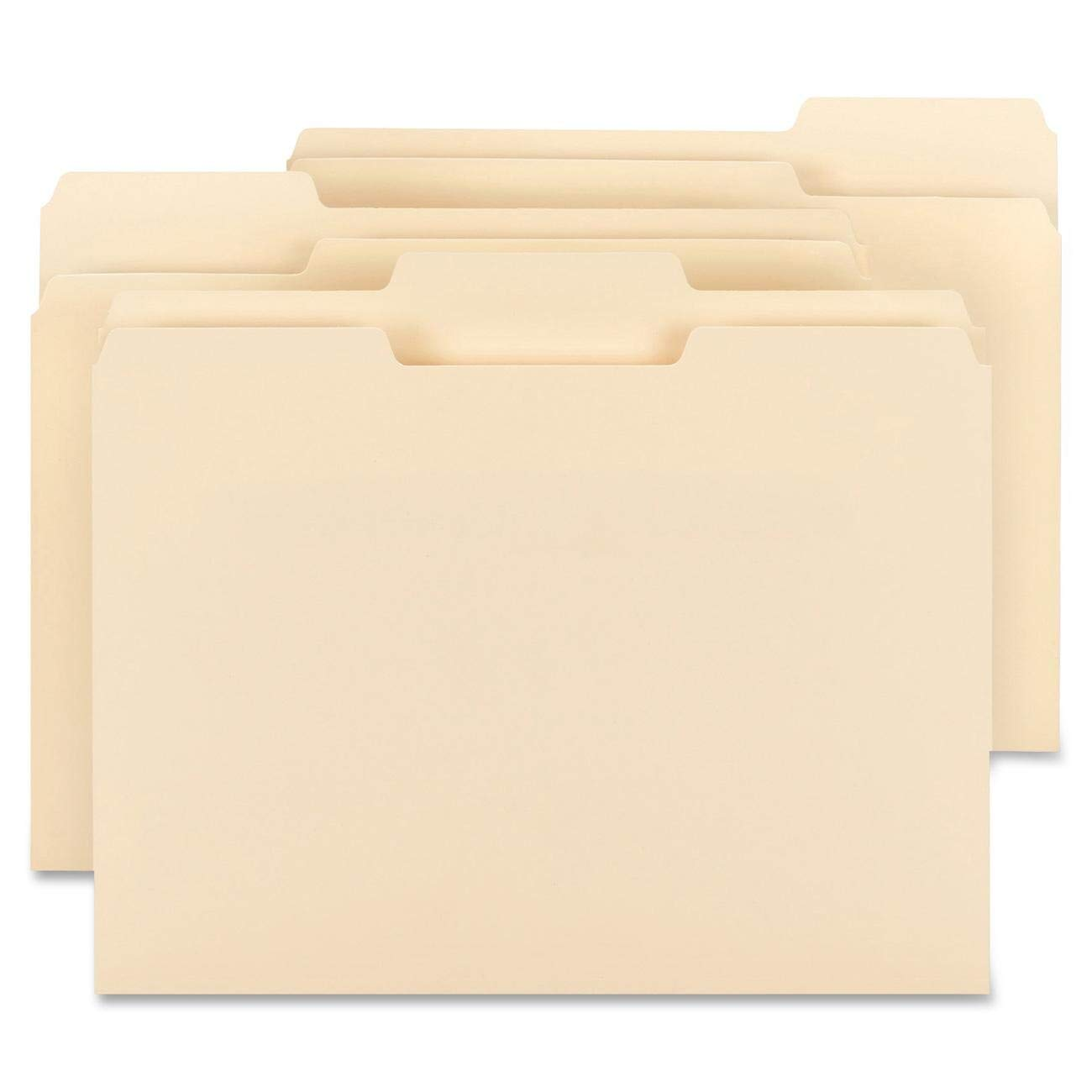 Big River Value Plus File Folders, 1/3-Cut Tab, Assorted Position, Letter Size (11-5/8'' W x 9-1/2'' H), Manila, File Folder, (Box of 200). Perfect for Everyday use, in Home or Office.