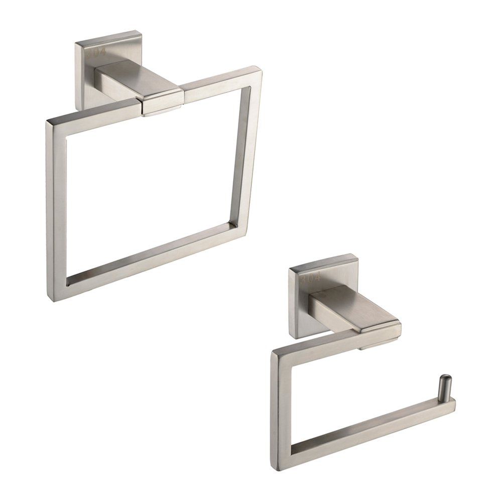 KES Bathroom Accessories Toilet Tissue Holder/Towel Ring SUS304 Stainless Steel Wall Mount, Brushed Finish, LA242-21 KES Home (U.S.) Limited 5847470