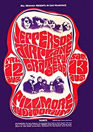 Jefferson Airplane 1966 Concert Poster, Fillmore AuditoriumMint Condition (Bg-23)