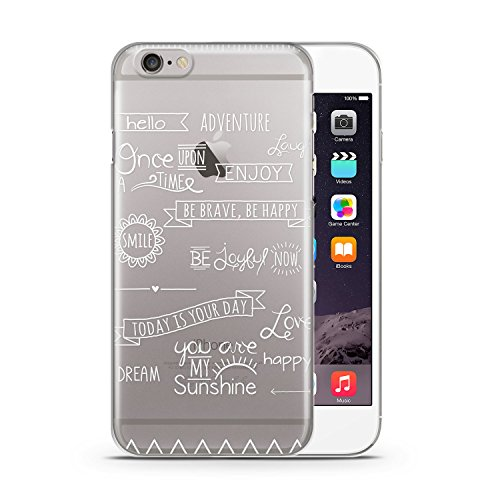 Zitate Quotes Weiß Apple iPhone 6 PLUS & 6S PLUS SLIM HARDCASE Durchsichtig Hülle Cover Case Schutz Schale Spruch Sprüche