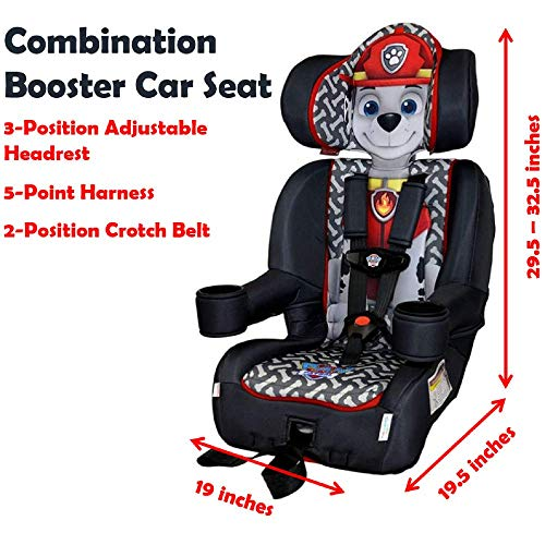 KidsEmbrace 2-in-1 Harness Booster Car Seat, Nickelodeon Paw Patrol Marshall by Nickelodeon (Image #2)