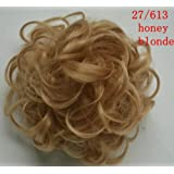 GOMOWIG Hair Bride Bun Ring Dount Curly For Pick Clip On Ponytail 27/613