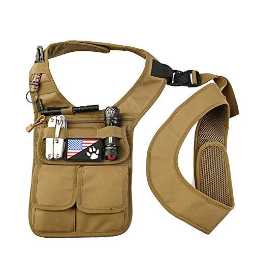 - QEES Underarm Concealed Holster Wallet for Men, Anti-Theft Left Shoulder Bag, Hidden Shoulder Wallet, Multi-Purpose Portable Security Bag for Travel/Outdoors GJB436 (Khaki)
