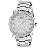 LUXURMAN Mens Diamond Watch 0.12ct Stainless Steel B