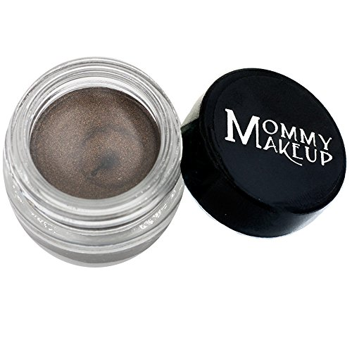 Mommy Makeup Waterproof Stay Put Gel Eyeliner with Semi-Permanent Micropigments - smudge-proof, long wearing, paraben-free Mischievous (Black with Green and Gold Flecks)