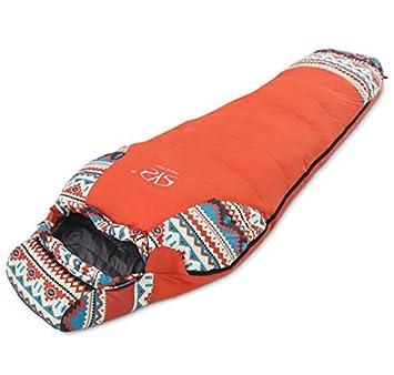 TTYY Al aire libre abajo saco de dormir Momia estilo Camping Super Light Portable , orange: Amazon.es: Deportes y aire libre