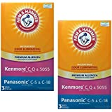 Arm & Hammer Kenmore C, Panasonic Premium Allergen Bag, 2 Pack of 3 Bags (6 Bags)