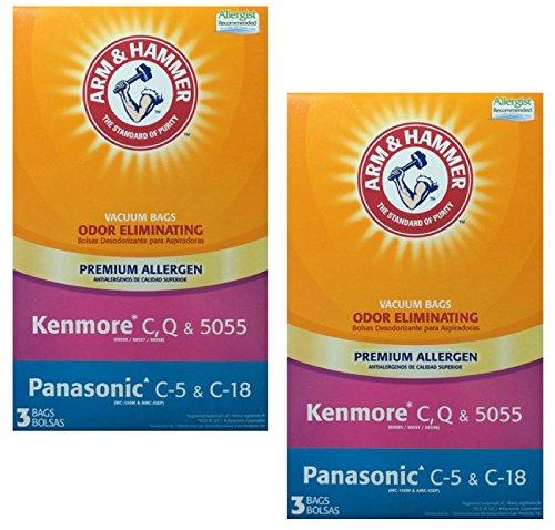 Arm & Hammer Kenmore C, Panasonic Premium Allergen Bag, 2 Pack of 3 Bags (6 Bags)