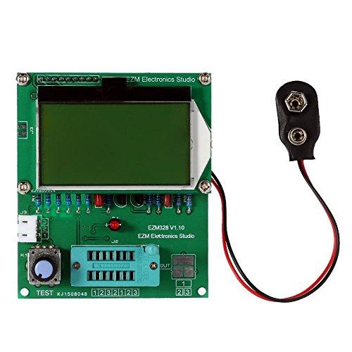 WINGONEER EZM328 Multi-Functional 128x64 LCD Transistor Tester Diode ESR MOS PNP NPN L/C/R Frequency Meter Square Wave Generator