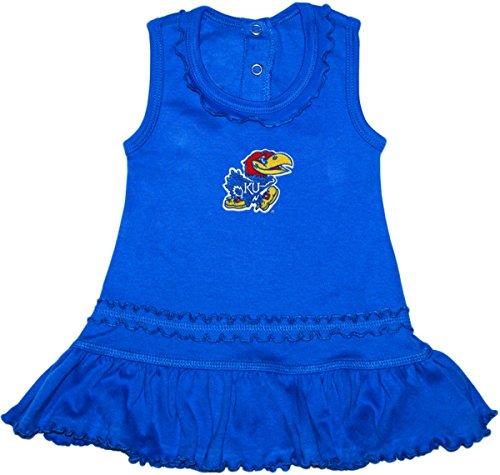 University of Kansas Jayhawks Ruffled Tank Top Dress with Bloomer Set