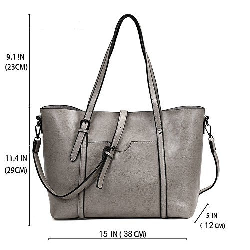Handbags match Tote Bags Satchel Purse Crossbody All for Bags Top Grey Clutch Ladies Women Hobo FiveloveTwo Handle Shopper Shoulder 1wvq6yE