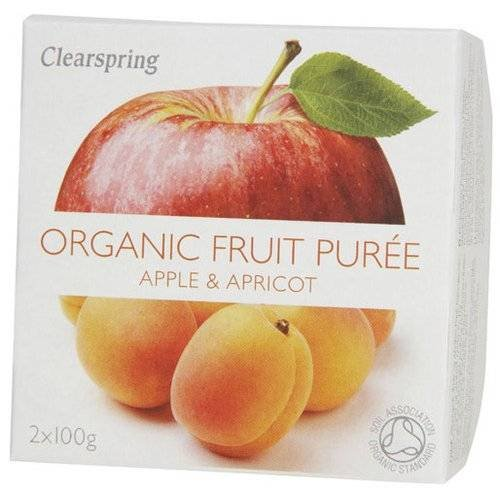 Fruit Puree Apple & Apricot (2 X 100g) - x 2 *Twin DEAL Pack* CLEARSPRING