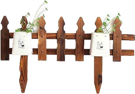 FPigSHS Cerco Estante de Flores Inserte el Suelo Cerca de Patio Cerca de jardín Decoración de jardinería Patio Carbonización Madera anticorrosiva Múltiples usos: Amazon.es: Hogar