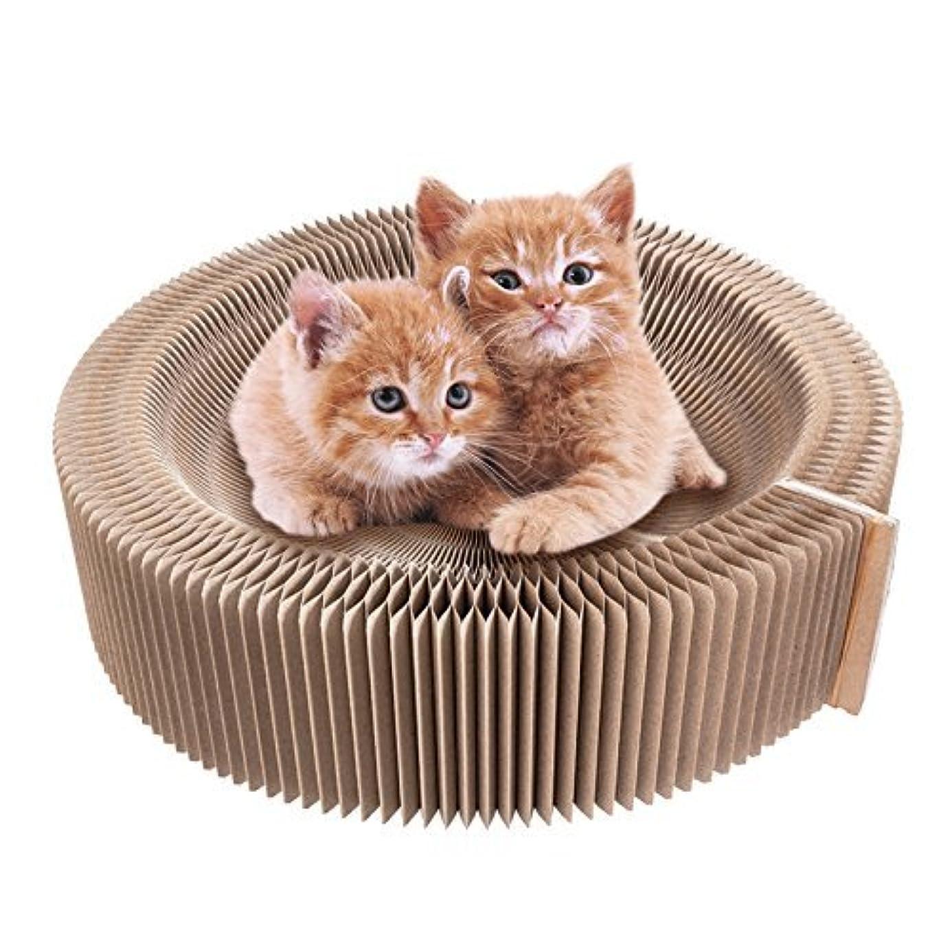 金貸し天気pidan 猫 爪研ぎ ダンボール 猫おもちゃ 人気 スクラッチャー 猫ベッド、スクラッチャー両用 ストレス解消