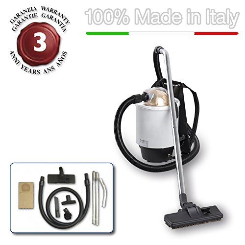 EOLO SEMIPROFESSIONAL BACKPACK VACUUM CLEANER + ACCESSORIES KIT LP36 MADE IN ITALY 230 Volts - Backpack Vacuum Machine