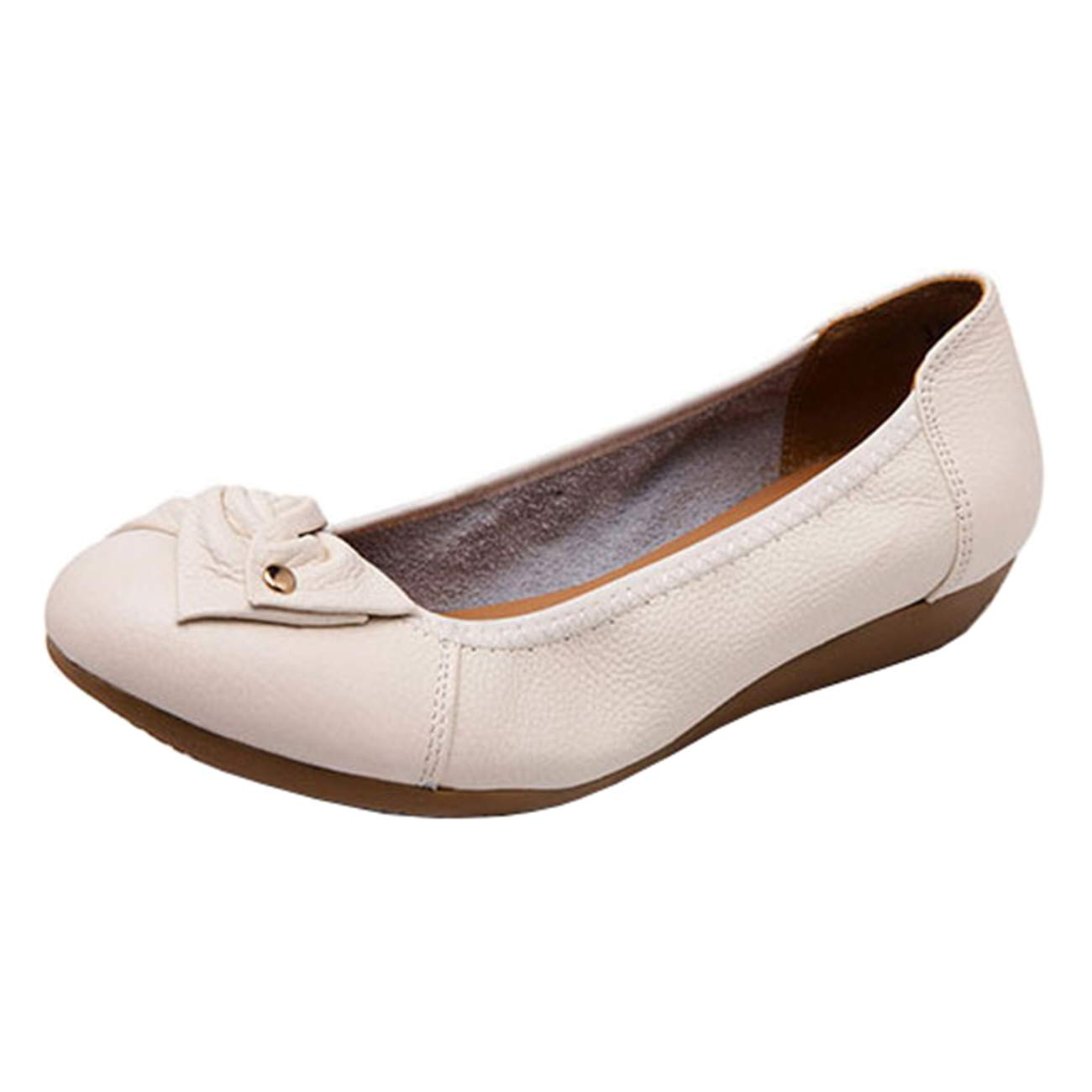 d8f93f196 Clothing, Shoes & Jewelry Women Mashiaoyi Womens Round-Toe Bowknot Flat Slip-on  Ballet Flats