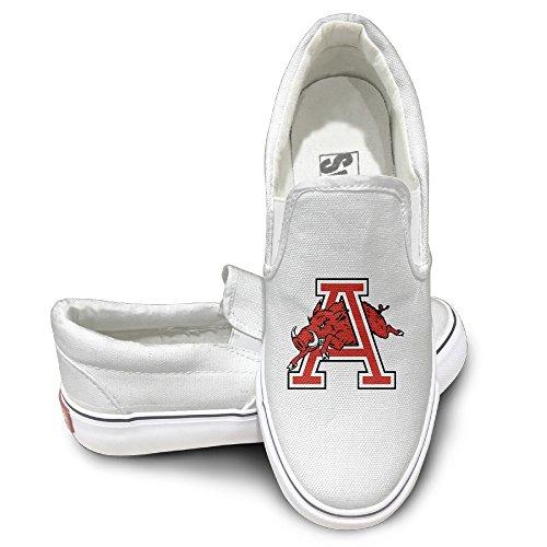 McBr Cool Sport Shoes University Of Arkansas UARK UA Razorbacks A Logo Travel White