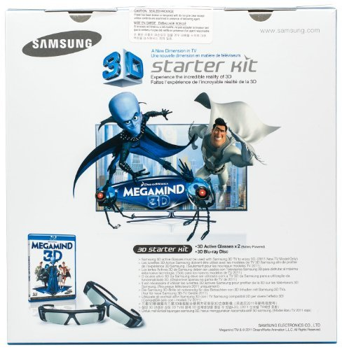 51ZRuEgAjgL - Samsung SSG-3100GB 3D Active Glasses - Black (Only Compatible with 2011 3D TVs)