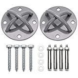 Mounting Kit for Yoga Aerial Trapeze - Mount Bracket for Suspension Straps - Wall and Ceiling Mount Kit