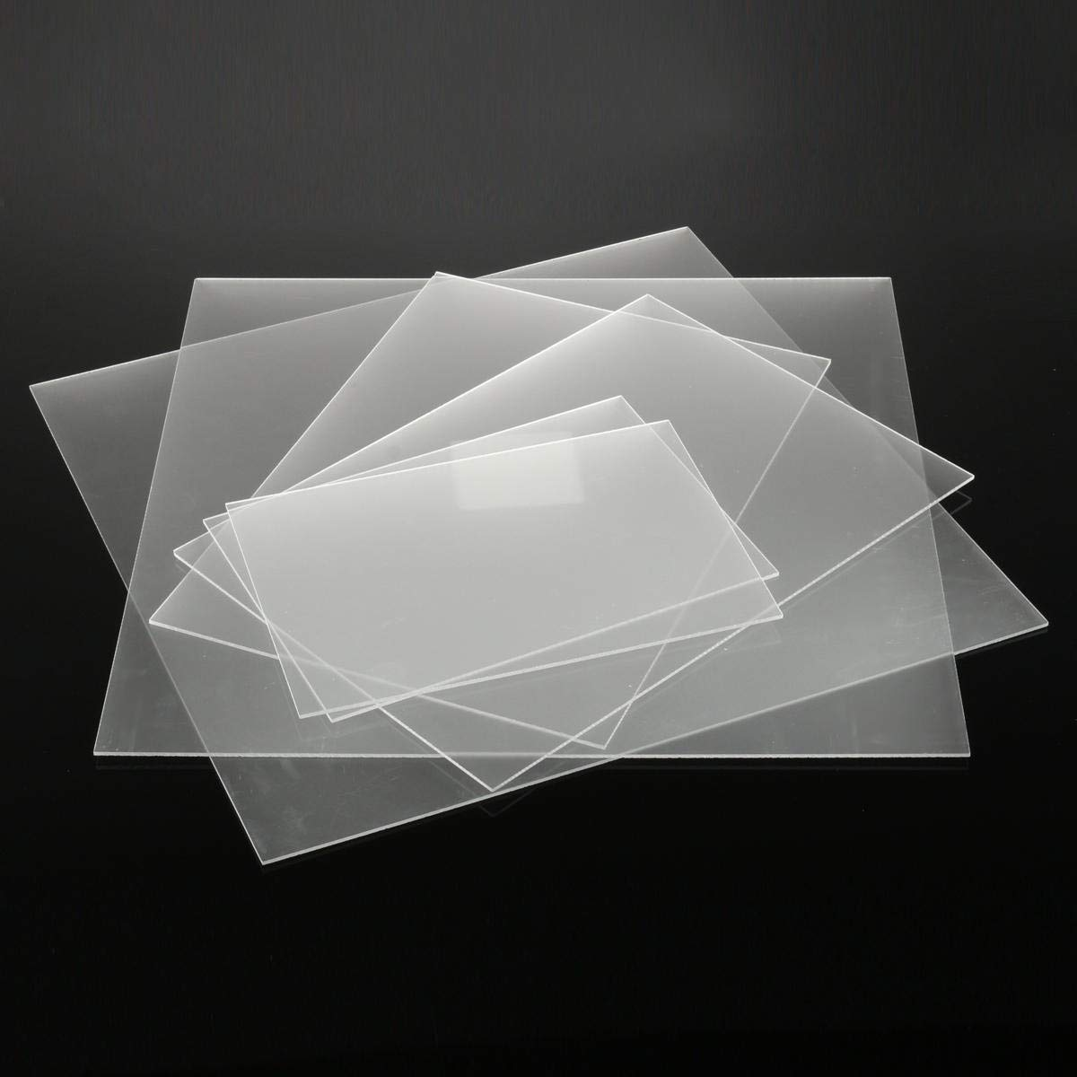 Stock_Home, Raw Materials, 3mm One-Sized Frosted Acrylic Sheet Clear Satin Matte Finish Plastic Panel 6 Sizes - (Size: #3)