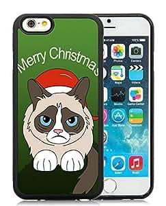 Custom-ized Phone Case iPhone 6 Case,Christmas Cat Black iPhone 6 4.7 Inch TPU Case 46