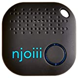 Njoiii Bluetooth Key, Phone, Anything Finder for Your Items with Replaceable Battery, Charcoal Gray