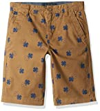 Lucky Brand Big Boys' Flat Front Twill Shorts, Clover Ermine, 8