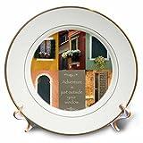 3dRose Susan Kjellsen Photography - Windows - Antique windows - 8 inch Porcelain Plate (cp_280229_1)