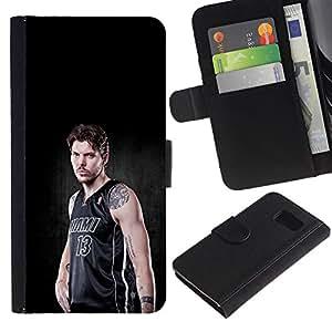 Miami 13 Baloncesto - la tarjeta de Crédito Slots PU Funda de cuero Monedero caso cubierta de piel Para Sony Xperia Z1 Compact / Z1 Mini (Not Z1) D5503