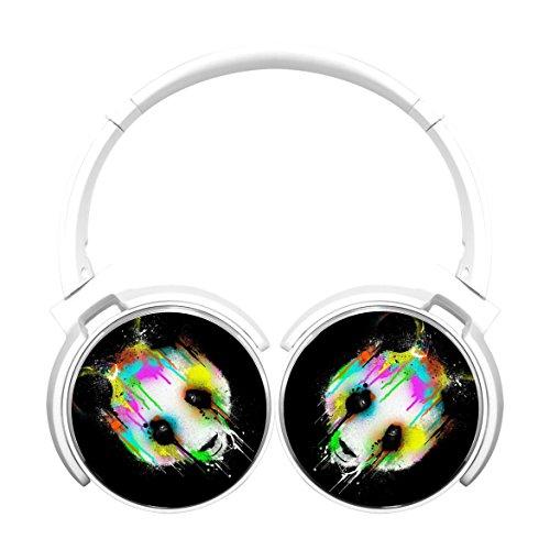 MagicQ New Colorful Panda Bluetooth Headphones,Hi-Fi Stereo Earphones - Panda White Playlist