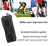 Waterproof Sport Bluetooth Speaker,Freegoing Outdoor Portable Wireless Bass Subwoofer Sound Speaker With 3600mAh Power Bank/ Mic / NFC Function For Travel Bicycle Climbing Camping Hiking Running