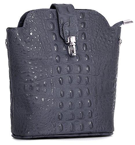 in Bag Grey Leather Body Croc Big Shop Real Designs Dark Shoulder Various Cross Mini Handbag Small WvRZa