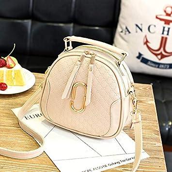 XMY Bolso pequeño y Redondo Bolso Femenino Bolso Bandolera elíptica Simple Bolso pequeño de Moda Casual, Color Beige: Amazon.es: Deportes y aire libre