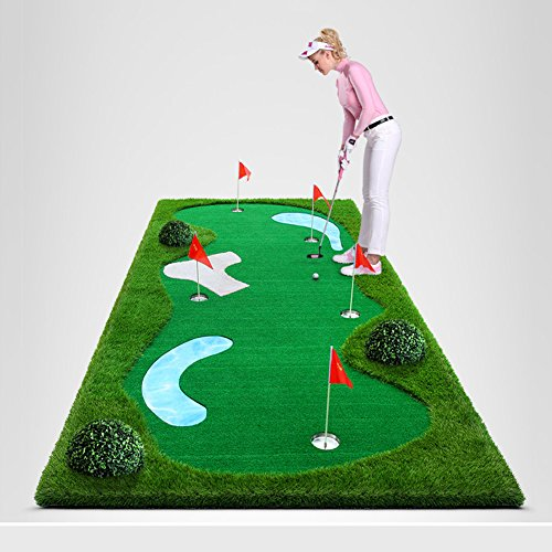 CRESTGOLF Golf Putting Green System Professional Practice Green Indoor/outdoor Golf Training Mat Aid Equipment —Large size