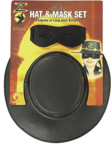 Rubie's Costume Children's Zorro Hat and Eye Mask Set (Kids Deluxe Zorro Costume)