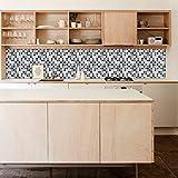 Wall Tile Kitchen Mosaic Backsplash Art Design Black Sticker Decor (Pack with 24) (6 x 6 inches)