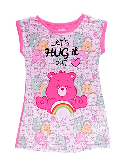 Care Bears Girls' Big Lets Hug It Out Nightgown, Pink, ()