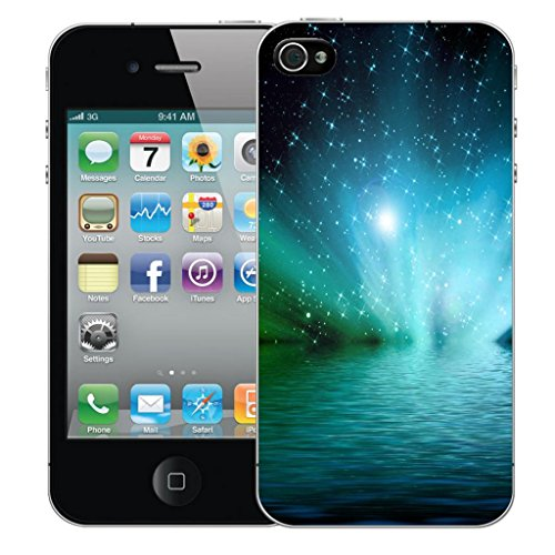Mobile Case Mate iPhone 4 4s Concepteur Dur IMD coque Affaire Couverture Case Cover Pare-chocs Coquille - Blue Water Modèle