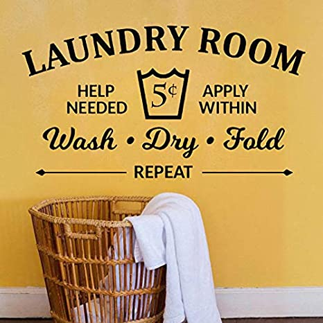 Reglas de la sala de lavandería Etiqueta de la pared Lavar ...