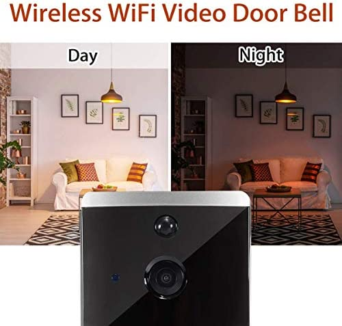 M2スマートWifiビデオドアベル、チャイムナイトビジョン付きカメラビジュアルインターホンIPドアベルワイヤレスホームセキュリティカメラ