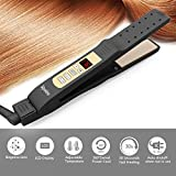Hair Straightener Professional Flat Iron with Anti-Static Ceramic,Safety Lock,Temperature Adjustable,Instant Heat Up for Salon and Home Use